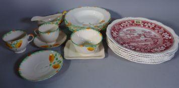Ceramics including, a Spode part dinner service,