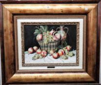 Lucas Mir (20th century), Still life of grapes and pomegranates; Still life of grapes, a pair,