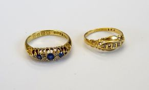 An 18ct gold ring,