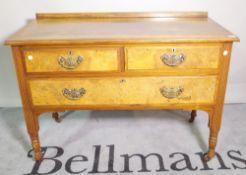 An early 20th century mahogany dressing table,