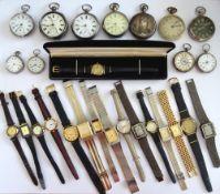 A silver cased, key wind, openfaced gentleman's pocket watch, London 1879, a silver cased, key wind,