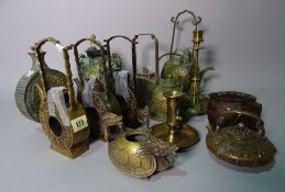 Asian collectables, including; 20th century decorative bronze items, including tea pots,