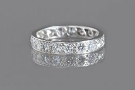 A diamond set full eternity ring, mounted with circular cut diamonds, ring size M, gross weight 3.