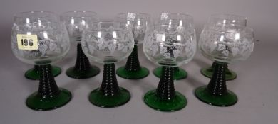 Glassware comprising; a suite of modern drinking vessels,