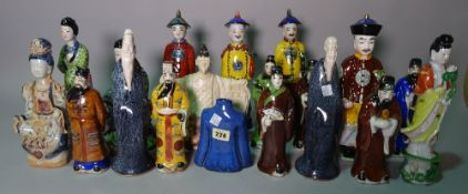 Asian ceramics, comprising; 20th century porcelain figures of various sizes, (qty).