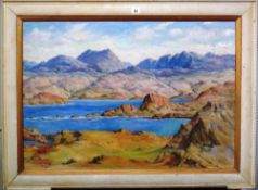 T. Train (early 20th century), Wester Ross, oil on board, signed and inscribed, 58cm x 83.5cm.