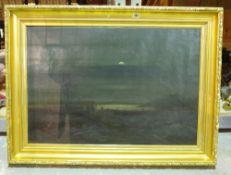 E ** A** Olin? (19th/20th century), Gypsy encampment by moonlight, oil on canvas,