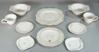 A 20th century white part dinner service to include cups, mugs, plates, bowls and sundry, (qty).