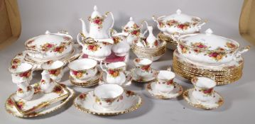 A quantity of Royal Albert 'Old Country Roses' dinner and tea wares, (qty).