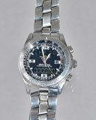 A Breitling Chronometre B-1 steel cased gentleman's bracelet wristwatch,