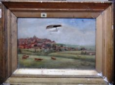 English School (c.1900), Red Roofed Rye, oil on canvas, 29cm x 44cm.