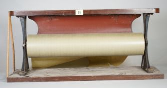 A Victorian shopkeepers brown paper dispenser,