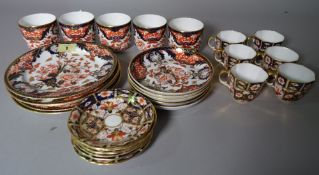 A group of Royal Crown Derby Imari pattern tea and coffee wares, (qty).