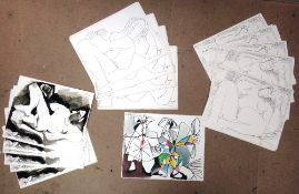 After Pablo Picasso, a group of assorted lithographic reproduction prints, all unframed, (folio).