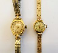 A Favre-Leuba 9ct gold cased lady's bracelet watch the dial signed, with baton indicators,