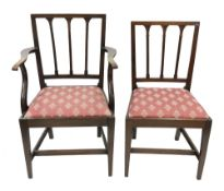 A set of four George III oak country din