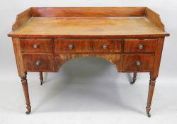 A George IV style mahogany dressing tabl