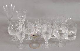 A set of six Bohemian cut glass brandy b
