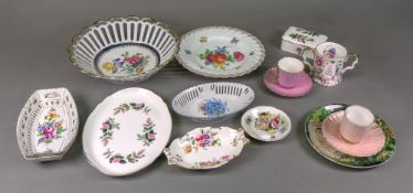 A Dresden plate, painted with flowers, 2