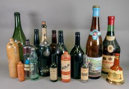 A collection of twelve vintage glass win