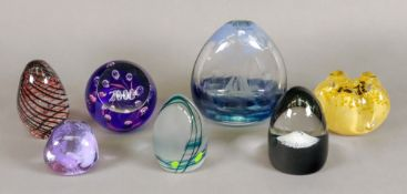 A Caithness Millennium glass paperweight,
