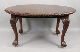 A 'Chippendale Revival' mahogany extendi