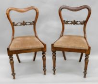 A pair of William IV rosewood dining cha