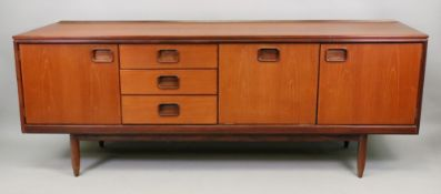 A William Lawrence of Nottingham retro teak sideboard, circa 1960's,