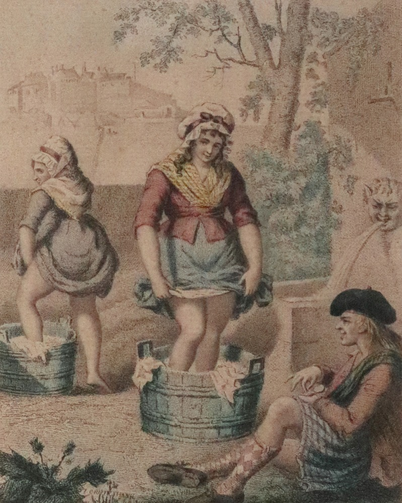 Lot 1533 - A hand coloured stipple engraving - Scot