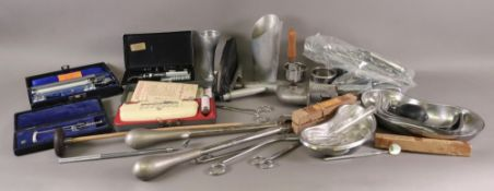 A large collection of medical instrument