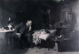 After Luke Fildes The Doctor, photogravu