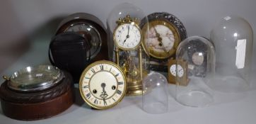 Horological interest; a group of 19th century and later clocks, (a.f.).
