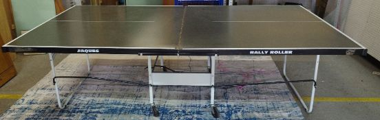 A modern Jacques folding table tennis table.
