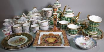 Ceramics, including; a Thomas Goode 'Highgrove' pattern part tea set,