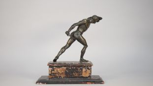 An early 19th century patinated bronze 'Gladiator' figure,