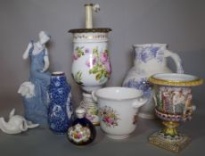 Ceramics, a group of 19th century and later decorated ceramics,