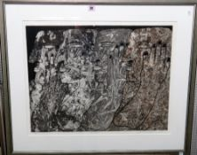 Josephine McCormick (20th century), 'The Spectacle', etching and aquatint, signed, numbered 5/100,