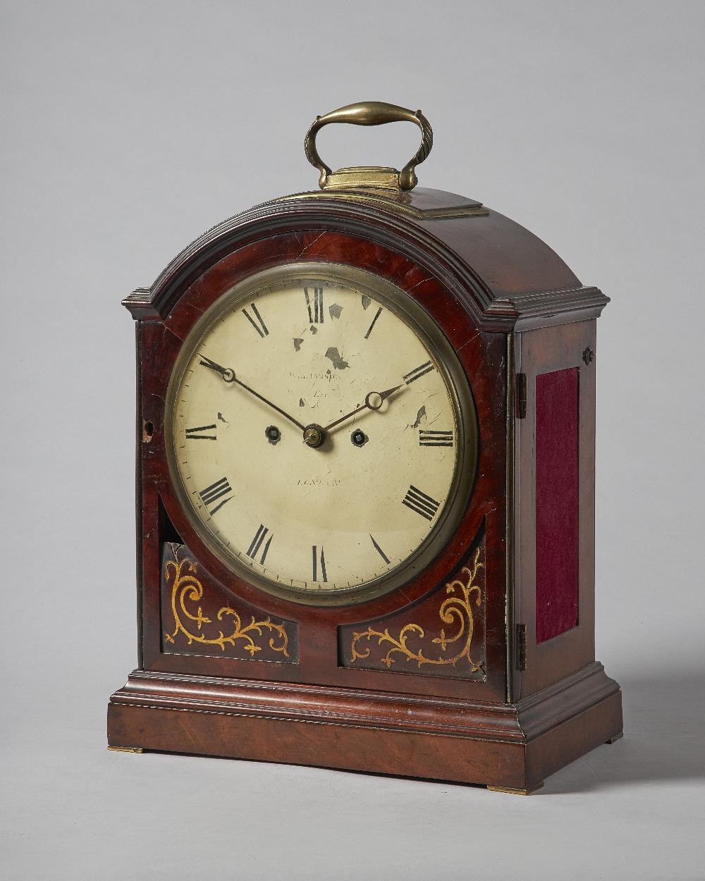 Lot 657 - A George III brass-mounted mahogany striking bracket clock By Williamson, Royal Exchange,