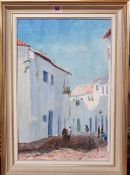 Alastair Kilburn (20th century), North African Street scene, oil on canvas, signed, 44cm x 29cm.