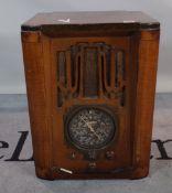 A 'Zenith' valve radio, 56cm tall.