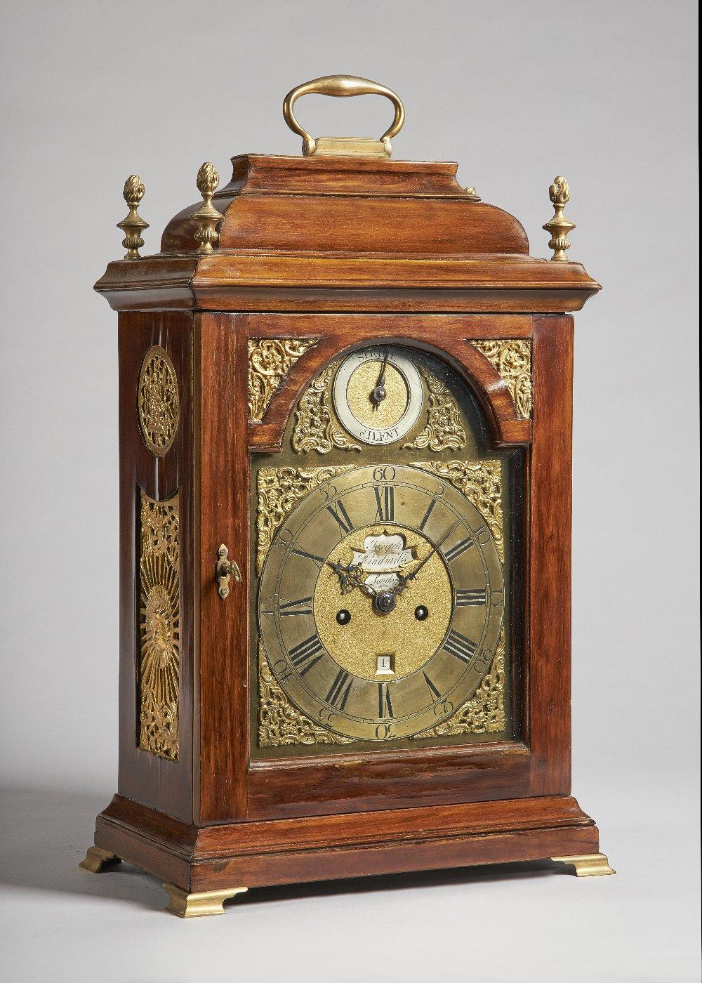 Lot 659 - A giltmetal-mounted fruitwood bracket clock The movement by Joseph Windmills,