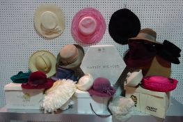 Fashion interest, a quantity of lady's hats, mostly boxed including; Harvey Nicholls, Harrods,