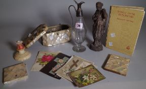 Collectables including; vintage advent calendars, mother-of-pearl card cases,