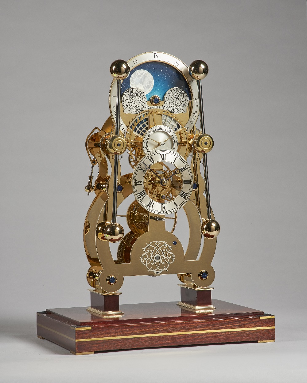 Lot 684 - A Modern Moonphase skeleton timepiece with grasshopper escapement By Sinclair Harding, No. 1003.