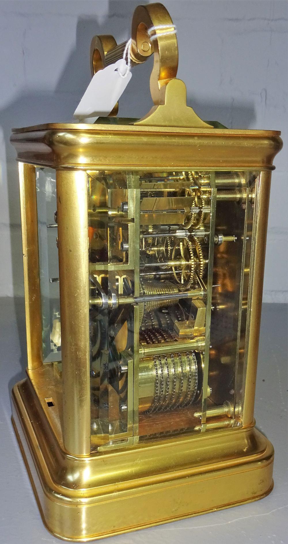 Lot 695 - A Victorian gilt bronze giant striking carriage clock By James McCabe, Royal Exchange, London, No.