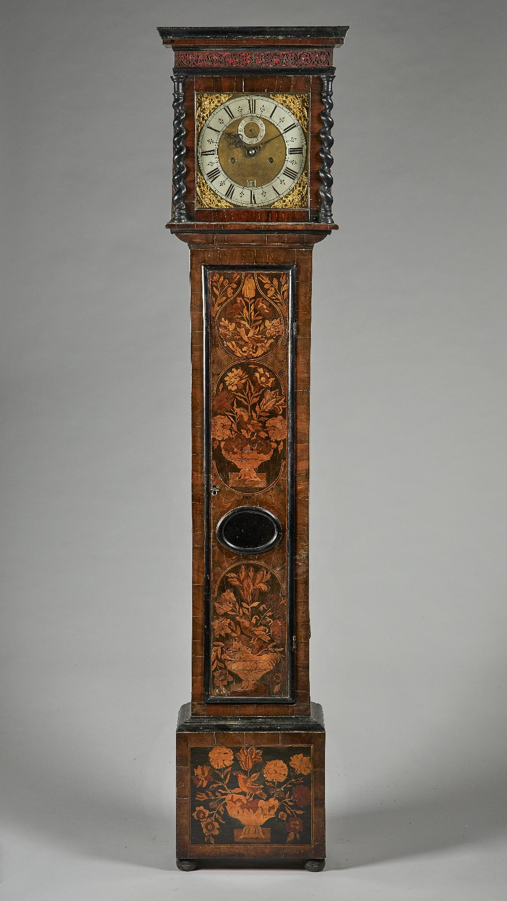 Lot 645 - A walnut and marquetry longcase clock By Solomon Bouquet, London,