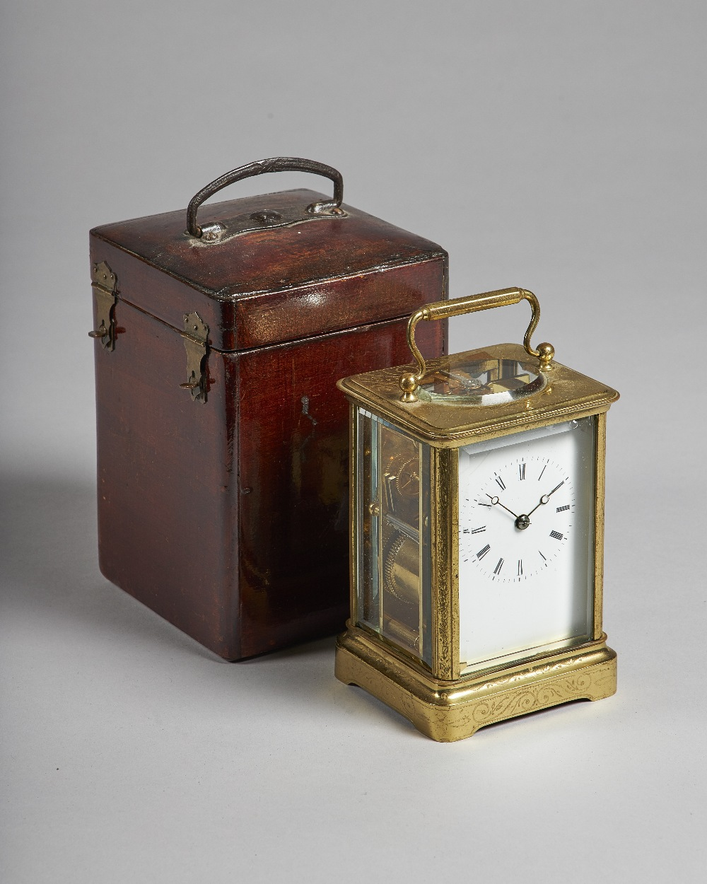 Lot 689 - A French brass carriage clock By Japy Freres,