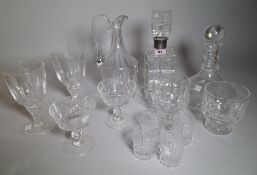 A group of glasswares, 19th/ 20th century,