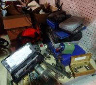 Horological interest; a quantity of watchmaker's tools, including lathes, saws,