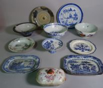 Asian ceramics, including; 18th century and later including bowls, plates,